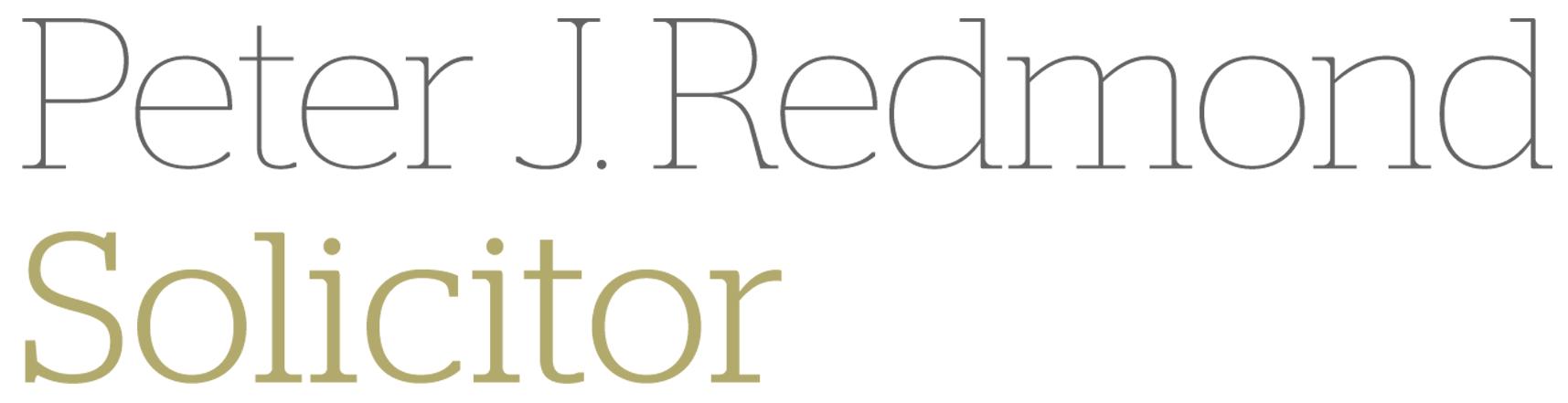Peter Redmond Solicitor